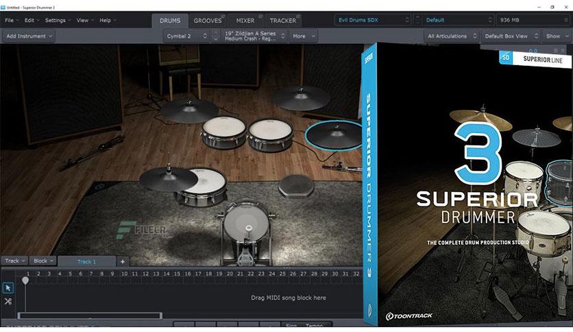 Toontrack Superior Drummer v3.2.4 (Mac) + Crack Latest 2021